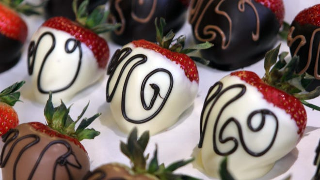 Confectionary chef Myriam Kriel makes the chocolate and does the designs for the chocolate strawberries.