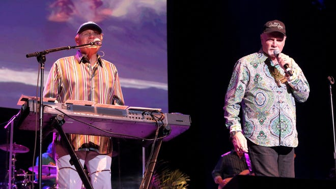 The Beach Boys, featuring Bruce Johnston (left) and Mike Love, will perform Aug. 19 at The Lawn at White River State Park.
