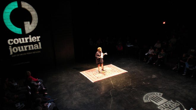 The Courier-Journal's restaurant critic Nancy Miller at a Storytellers event.