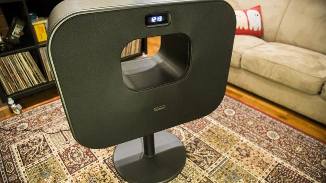 The Fluance Fi70, a large Bluetooth speaker.