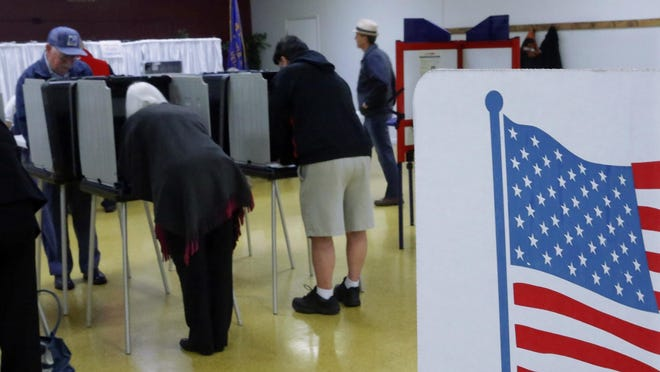 People cast their ballots in the 2014 midterm elections in Springfield, Ill.
