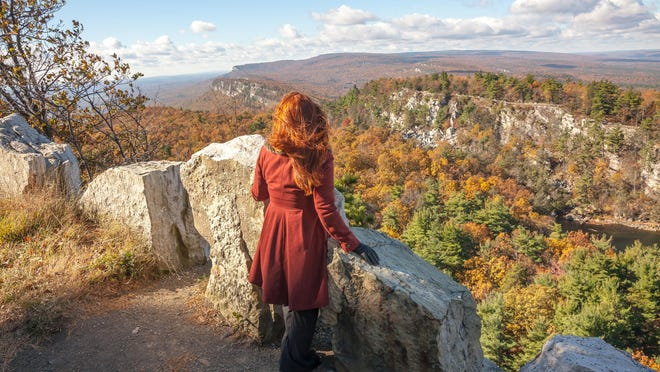 One of the many scenic vistas at Mohonk Mountain House.