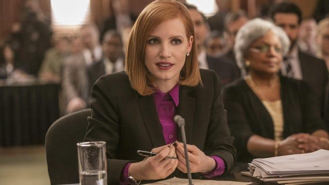 "Jessica Chastain stars in ""Miss Sloane."""