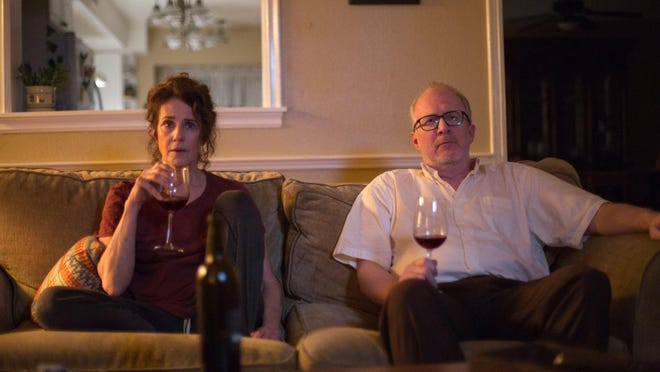"Debra Winger and Tracy Letts in ""The Lovers."""