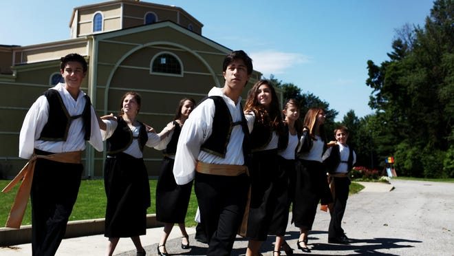 Athenian Dancers practice a Greek traditional dance in 2012 at Assumption Greek Orthodox Church, 930 Ormsby Lane in Lyndon.