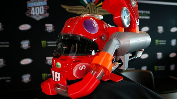 Kyle Busch's awesome new helmet literally dispenses candy