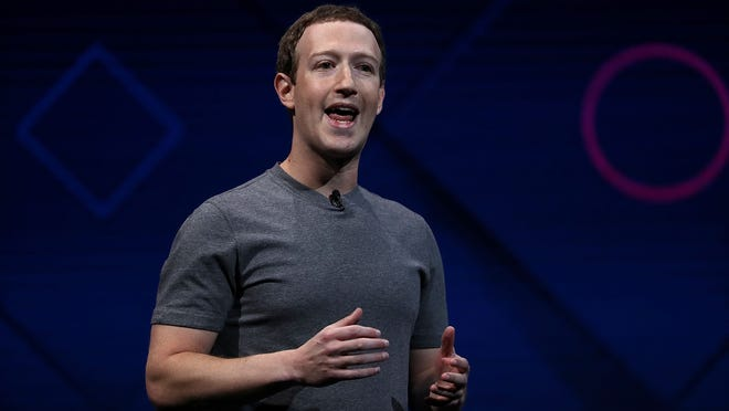 SAN JOSE, CA - APRIL 18:  Facebook CEO Mark Zuckerberg delivers the keynote address at Facebook's F8 Developer Conference on April 18, 2017 at McEnery Convention Center in San Jose, California. The conference will explore Facebook's new technology initiatives and products. (Photo by Justin Sullivan/Getty Images) ORG XMIT: 700036243 ORIG FILE ID: 669889260