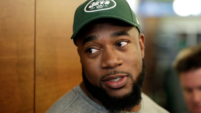 Nathan Shepherd played well as a starter for the Jets. (Julio Cortez-AP)