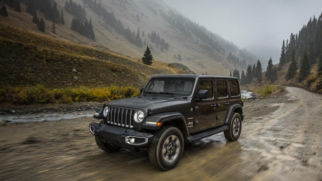 FCA is exploring new ways to boost sales of its money-minting Jeep vehicles, like this 2019 Jeep Wrangler Sahara. They're going to offer a three-month pilot with peer-to-peer car-sharing startup Turo and a trial subscription service for Jeep owners.