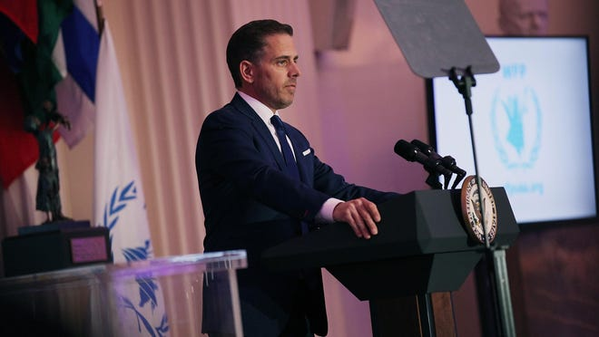 """Hunter Biden on Tuesday for the first time admitted he made a mistake by getting embroiled in the """"swamp"""" of corrupt Ukraine. (Teresa Kroeger/Getty Images for World Food Program USA/TNS)"""