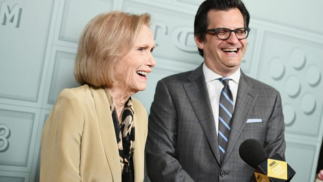 "From left, actor Eva Marie Saint and TCM host Ben Mankiewicz attends the screening of ""A Hatful of Rain"" during day two of the 2018 TCM Classic Film Festival in 2018 in Hollywood."