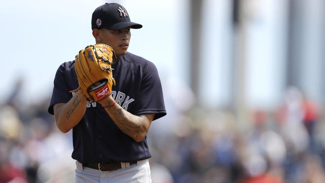 Jonathan Loaisiga could give Yankees' pitching staff flexibility as starter or reliever when baseball returns.
