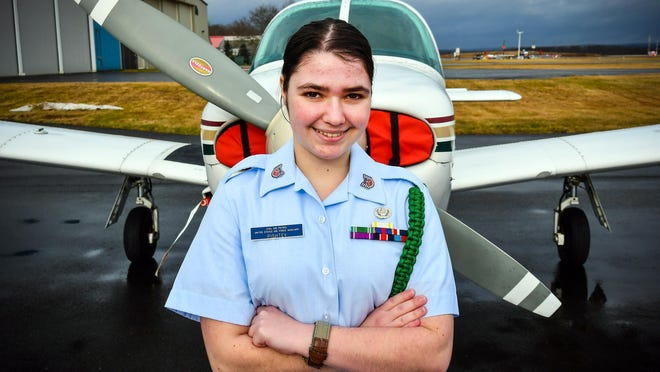 Alexa Pishtey, a junior at Pine Bush High School, is a Technical Sergeant in the Sullivan County Civil Air Patrol Cadet Squadron based out of Sullivan County International Airport.