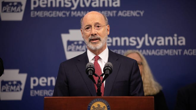 Gov. Tom Wolf gives an update on Pennsylvania's efforts to mitigate the effects of the new coronavirus.