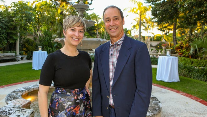Dr. Rebecca Edelmayer and Harold Robaina at the Southeast Florida Chapter of the Alzheimerís Association private event on March 5, 2020, at Villa Fontana.