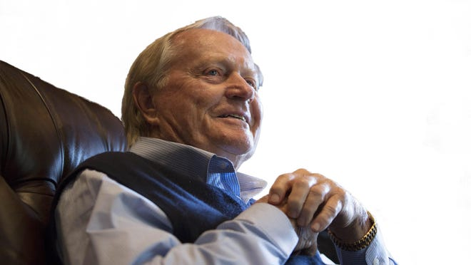 Legendary golfer Jack Nicklaus talks about turning 80 during a conference call in his office at his home in Lost Tree Village, Monday, Jan. 13, 2020.