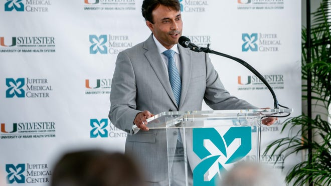Jupiter Medical Center president and chief executive officer Amit Rastogi.
