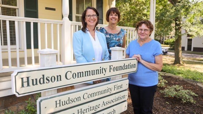 Hudson Community Foundation president Amy Jordan, and staff members Mara Scherer and Mary Hughes.
