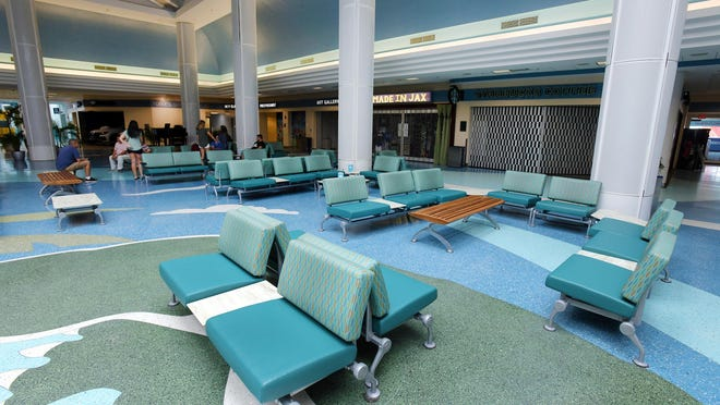 Empty seats and closed businesses were familiar sites in April at Jacksonville International Airport in Jacksonville. Statewide, the number of visitors during the second quarter of 2020 was off 60.5%.