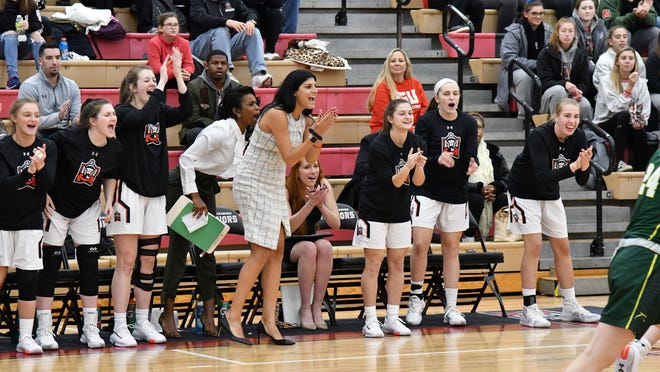 East Stroudsburg University women's basketball head coach Stephanie Del Preore, center, announced the signing of six student-athletes for the 2020-21 season.