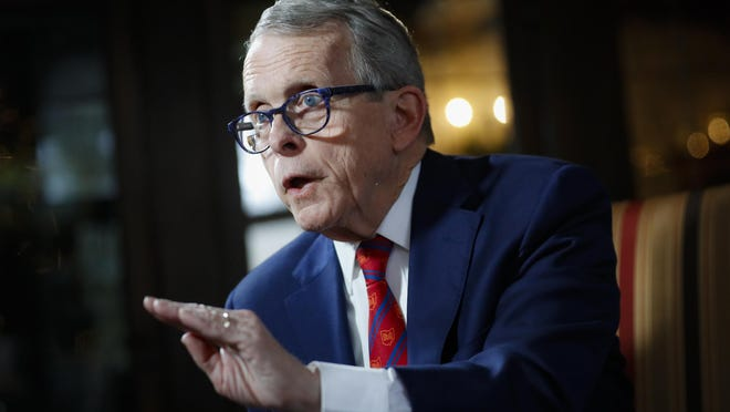 Ohio Gov. Mike DeWine speaks during an interview Dec. 13 at the Governor's Residence in Columbus.
