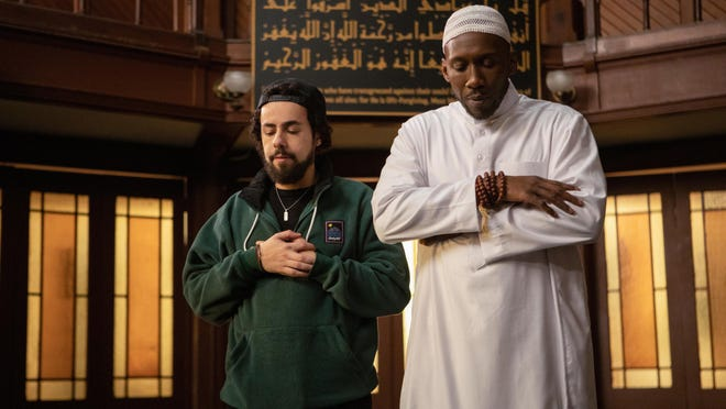 "Ramy Youssef and Mahershala Ali in Season 2 of the Hulu series ""Ramy."""