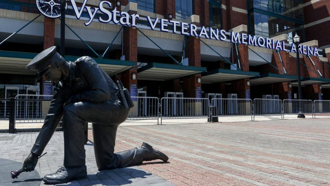 The VyStar Veterans Memorial Arena in Jacksonville, Florida, is scheduled to host the Republican National Convention starting Aug. 24.