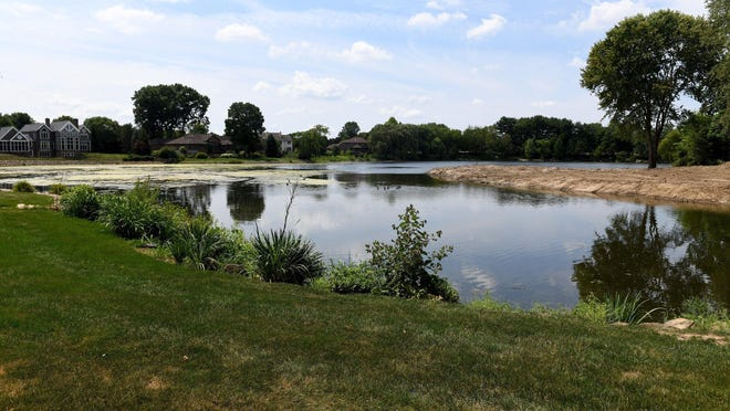 A view of Nobles Pond in Jackson Township on Friday.