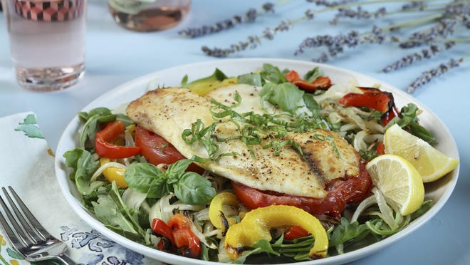 Provencal roasted pepper and fish salad