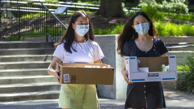 Dough Re Mi founders Sarah Zeng and Alice Huang meet up once a week to fulfill orders of cookies for their new business.