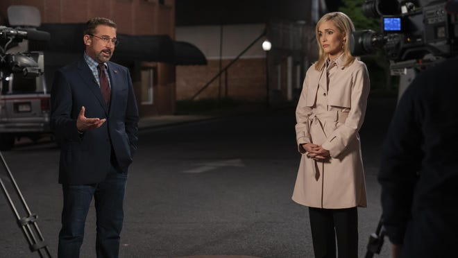 """Steve Carell stars as Gary Zimmer and Rose Byrne as Faith Brewster in """"Irresistible."""""""
