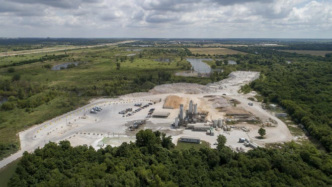 This Martin Marietta property at Texas 130 and Harold Green Road, photographed on June 18, is a possible site for a new Tesla manufacturing plant.