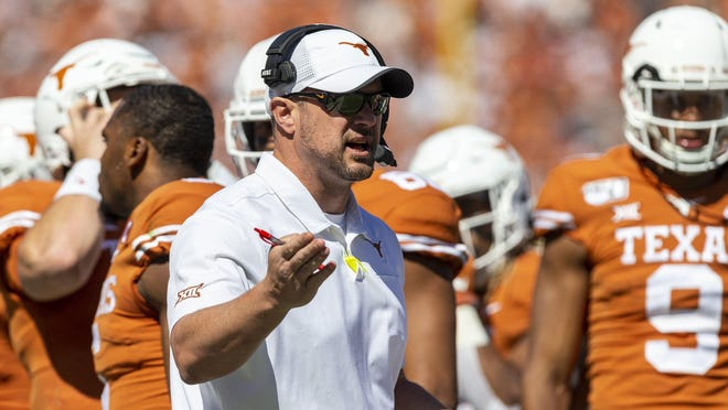Texas head coach Tom Herman, shown here during a game at the Cotton Bowl in Dallas in 2019.