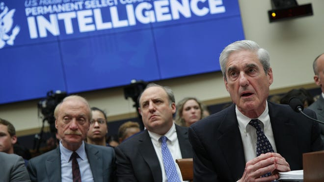 Former Special Counsel Robert Mueller testifies before the House Intelligence Committee about his report on Russian interference in the 2016 presidential election in the Rayburn House Office Building July 24, 2019 in Washington, DC. The Supreme Court has blocked the release of the redacted parts of the report.