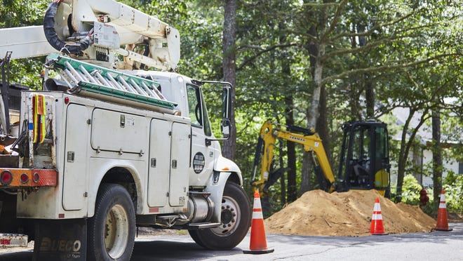Residents of a private road in Eastham have relied on Eversource in the past to respond to power outages. They were surprised to learn during an outage this week that the company will not make repairs to certain equipment. A Farrell Electric Co. crew had to be called in.