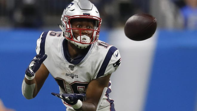 New England Patriots' wide receiver Jakobi Meyers led the team in receiving yards during the 2019 preseason, a factor which likely led to him making the Patriots' 53-man roster last year.