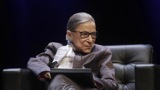 U.S. Supreme Court Justice Ruth Bader Ginsburg, shown in October 2019 at the University of California at Berkeley, died Friday at age 87.
