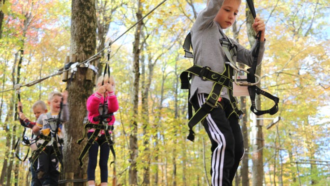 Bristol Mountain Aerial Adventure Park was the place for a birthday party last October. The kids, seen from front to back, along the zipline: Jaxson Battin, Collins Borglum, Finnegan Monaghan and Bennett Schumacher, all of Naples.