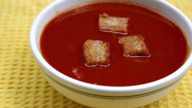 Lightly Spiced Tomato Soup.