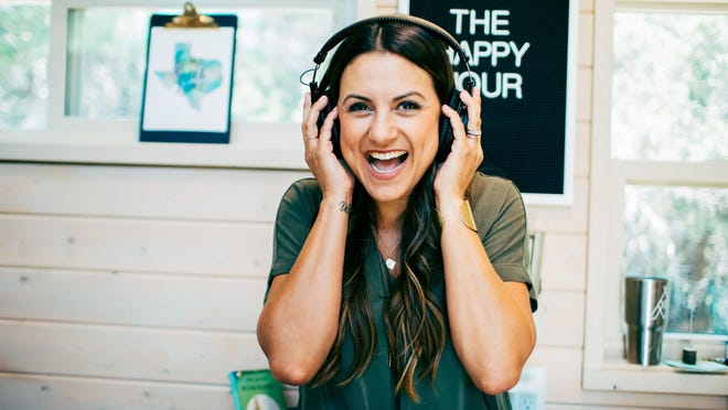 "Jamie Ivey is the host of ""The Happy Hour"" Christian podcast, which she began in 2014."