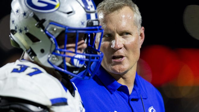 Georgetown head coach Chuck Griffin led the Eagles to a 38-14 nondistrict win over Copperas Cove Friday.