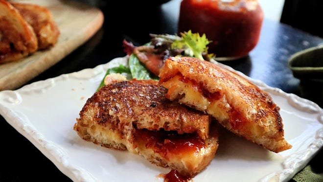 Homemade tomato jam dresses up everything from eggs to biscuits to grilled cheese sandwiches.