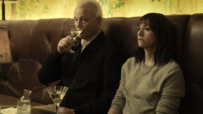 """Bill Murray, left, a frequent Sofia Coppola player, has easy chemistry with Rashida Jones in """"On the Rocks."""""""