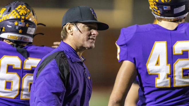 Liberty Hill head coach Jeff Walker led the Panthers to a 42-0 win over McCallum Friday.