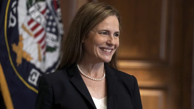 Supreme Court nominee Amy Coney Barrett was confirmed for a seat on the Supreme Court Monday night by a 52-48 vote in the U.S. Senate.
