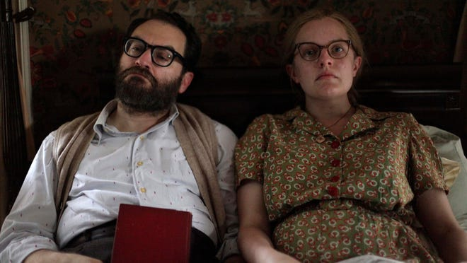 "This image released by Neon shows Michael Stuhlbarg, left, and Elisabeth Moss in a scene from ""Shirley."""