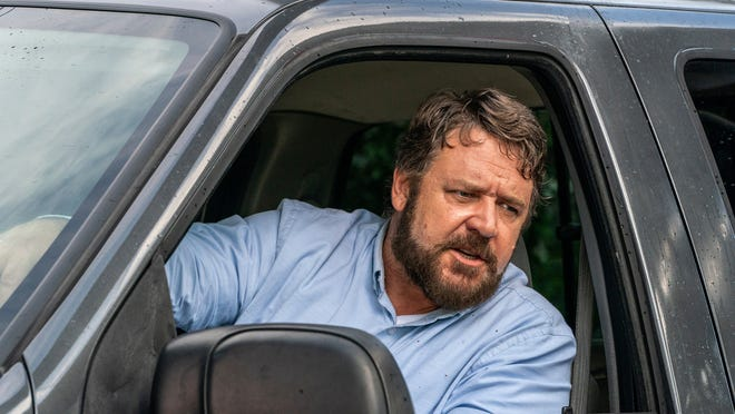 """This image released by Solstice Studios and Ingenious Media shows Russell Crowe in a scene from """"Unhinged."""""""