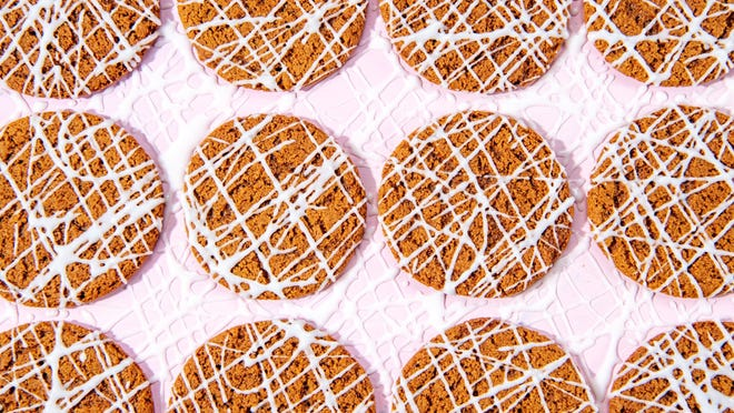 Brown Sugar Cookies with Maple Drizzle