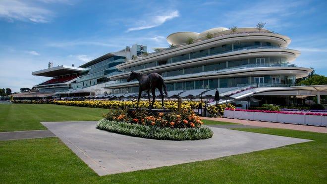 Flemington Racecourse in Melbourne, Australia.