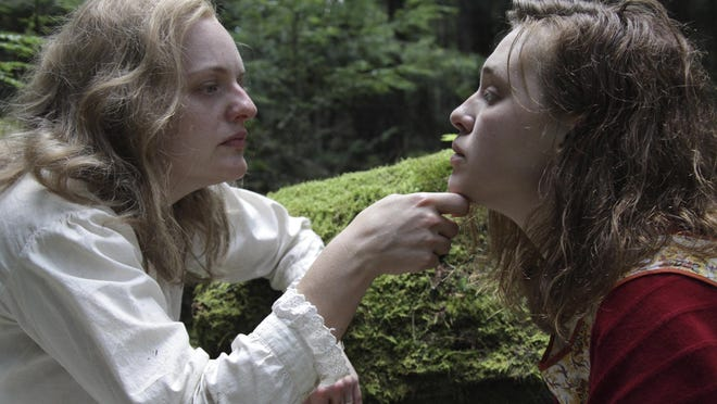 """Elisabeth Moss, left, and Odessa Young in a scene from """"Shirley."""""""